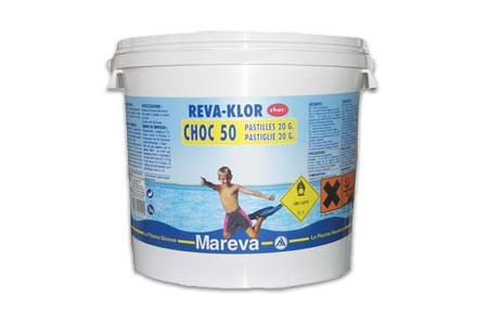 REVAKLOR CHOC 50 5 KG CHLORE EN PASTILLES 20g
