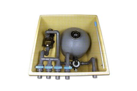 LOCAL Semi entérré EQUIPE avec filtration 14m3 h