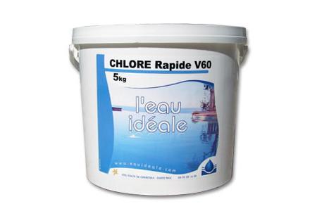 CHLORE CHOC 60 GRANULES RAPIDE 56% 5 Kg   SELECTION EAUIDEALE