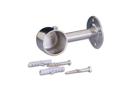 FIXATION EXTREMITE FERME INOX D43 MAIN COURANTE
