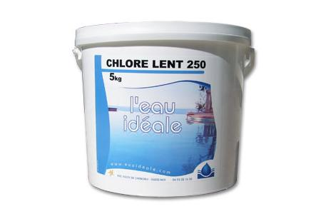 CHLORE LENT 250  5 Kg  SELECTION EAU IDEALE