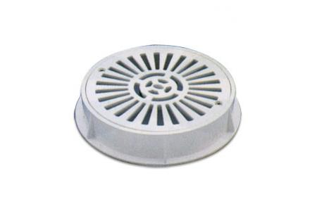GRILLE & SUPPORT DIAM 200 ABS BLANC+VIS