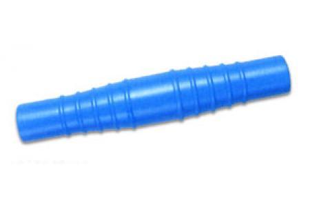RACCORD CANNELE DOUBLE pour liaison de tuyau souple D.32 38 Bleu