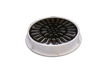 GRILLE INOX +SUPPORT ABS ASTRAL D 200