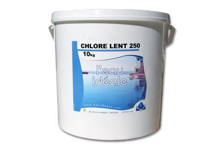 CHLORE LENT 250 10 Kg SELECTION  EAUIDEALE