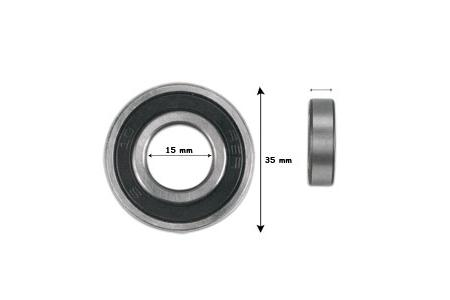 ROULEMENT 6002 2RS C3 SKF (Ø 32 x 15mm x9)