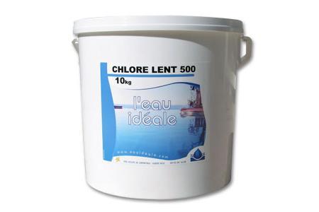 CHLORE LENT 500 10Kg   SELECTION EAU IDEALE By MAREVA